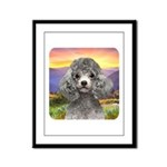 Poodle Meadow Framed Panel Print