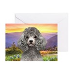 Poodle Meadow Greeting Cards (Pk of 10)