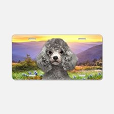 Poodle Meadow Aluminum License Plate