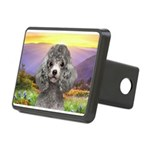 Poodle Meadow Rectangular Hitch Cover