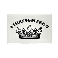 Firefighter's Princess Rectangle Magnet