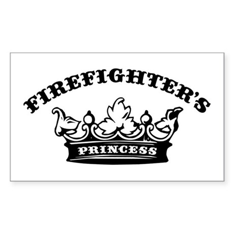 Firefighter's Princess Rectangle Sticker