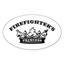 Firefighter's Princess Oval Decal