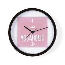 Yogaholic Wall Clock