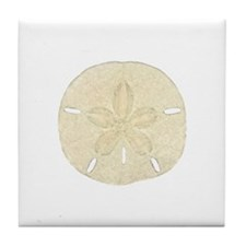 Sand Dollar Logo Tile Coaster