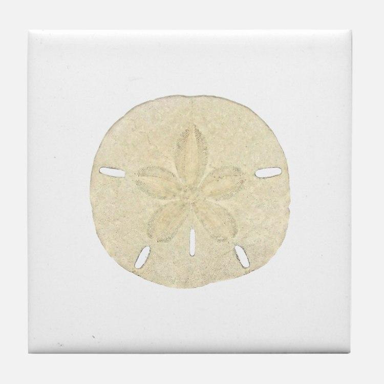 Sand Dollar Logo Tile Coaster
