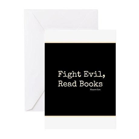 Fight Evil, Read Books Greeting Cards (Pk of 20)