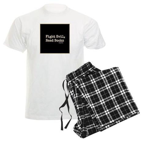 Fight Evil, Read Books Men's Light Pajamas