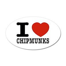 I love Chipmunks Wall Decal