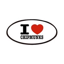 I love Chipmunks Patches