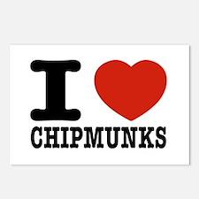 I love Chipmunks Postcards (Package of 8)