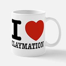 I love Claymation Small Mugs
