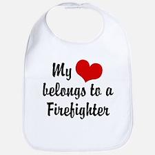 My Heart Belongs to a Firefighter Bib