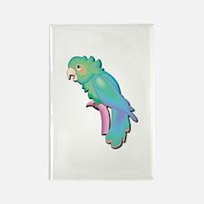 Pretty Blue Parrot Rectangle Magnet