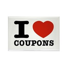 I love Coupons Rectangle Magnet