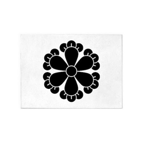 Six cloves 5'x7'Area Rug