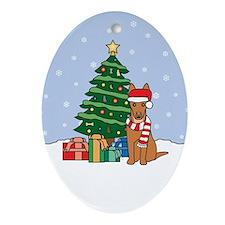 Pharaoh Hound Christmas Oval Ornament