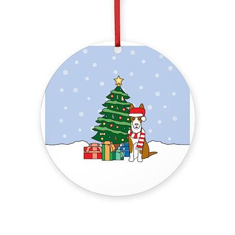 Ibizan Hound Christmas Round Ornament