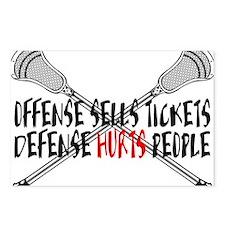 Lacrosse Defense Hurts Postcards (Package of 8)