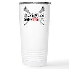 Lacrosse Defense Hurts Travel Mug