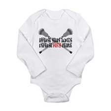 Lacrosse Defense Hurts Long Sleeve Infant Bodysuit