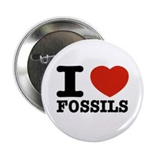 """I love Fossils 2.25"""" Button"""