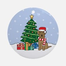 Airedale Terrier Christmas Round Ornament