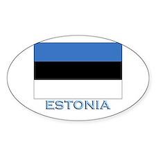 Estonia Flag Stuff Oval Decal
