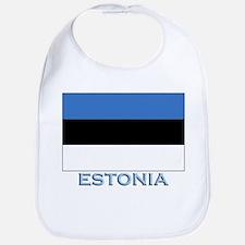 Estonia Flag Stuff Bib