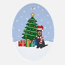 Australian Kelpie Christmas Oval Ornament