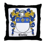 Civille Coat of Arms Throw Pillow
