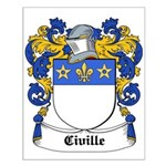 Civille Coat of Arms Small Poster