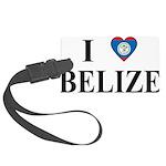 I Love Belize Large Luggage Tag