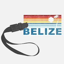 Retro Belize Palm Tree Luggage Tag