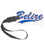Retro Belize Large Luggage Tag