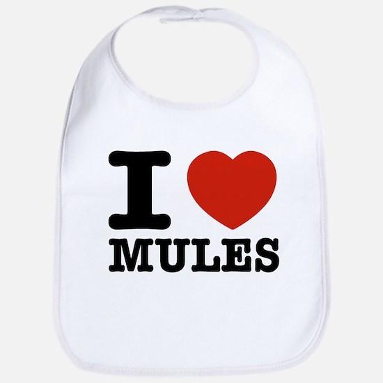 I love Mules Bib