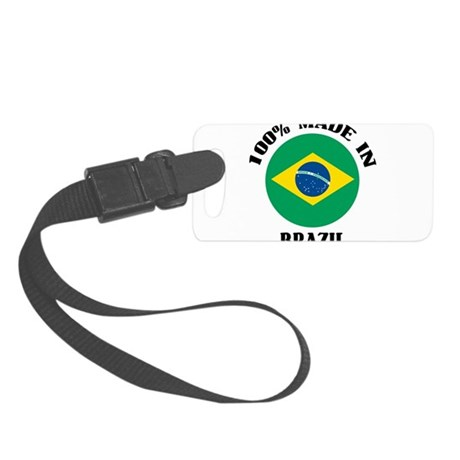 100% Made In Brazil Small Luggage Tag