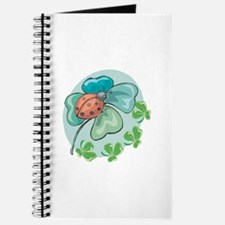 LadyBug on Four-Leafed Clover Journal