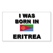 I Was Born In Eritrea Rectangle Decal
