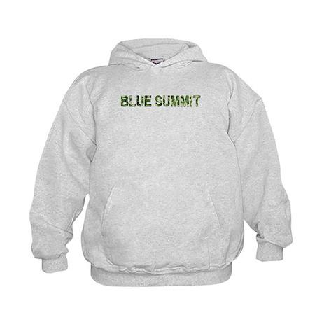 Blue Summit, Vintage Camo, Kids Hoodie