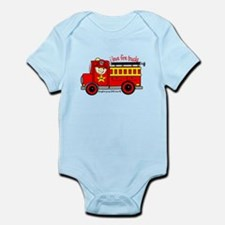 FIRE TRUCK - LOVE TO BE ME Infant Bodysuit