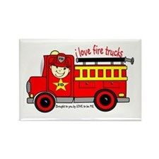 FIRE TRUCK - LOVE TO BE ME Rectangle Magnet