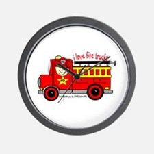 FIRE TRUCK - LOVE TO BE ME Wall Clock