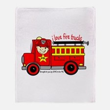 FIRE TRUCK - LOVE TO BE ME Throw Blanket