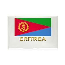 Eritrea Flag Gear Rectangle Magnet