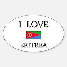 I Love Eritrea Oval Decal