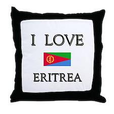 I Love Eritrea Throw Pillow