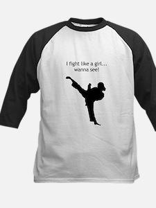 fight like a girl.tif Baseball Jersey