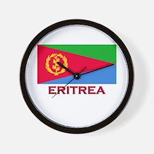 Eritrea Flag Merchandise Wall Clock