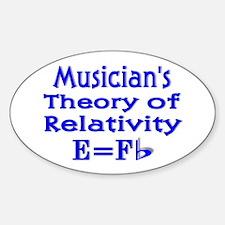 Music Theory Teacher 2 Oval Decal